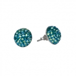 Ohrstecker Halbkugel 12mm AB blue zircon